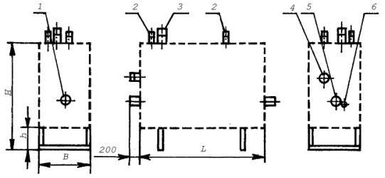 Габаритный чертеж газорегуляторной установки (ГРУ)